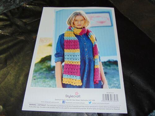 Stylecraft Bellissima Double Knitting Crochet Pattern 9633 2 Designs