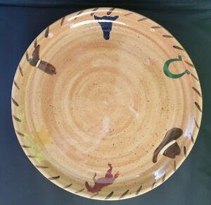 Gaetano Pottery Horse Cowboy Hat Longhorn Boot Western 10