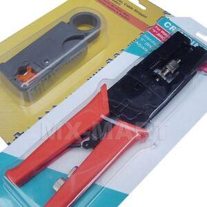 compression bnc rca crimp tool rg59 rg6 connector coax ebay. Black Bedroom Furniture Sets. Home Design Ideas