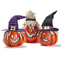 Halloween Happy Pumpkin Decorative Lantern Set 3 Pieces Party Décor Light Up