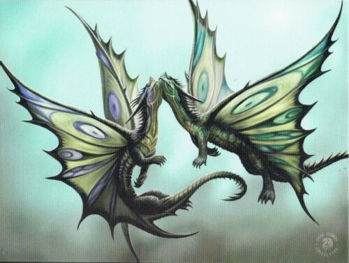 NEW Dragon Picture Fly Away With Me Wall Plaque by Anne Stokes 25 cm x 19 cm
