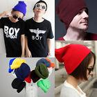 Colorful Fashion Unisex Warm Plain Soft Acrylic Beanie Skull Knit Ski Cap Hat