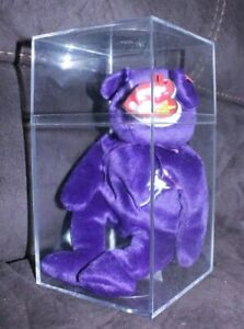 Ty Beanie Baby Rare Princess Diana Bear 1997 Pe Pellets With Case