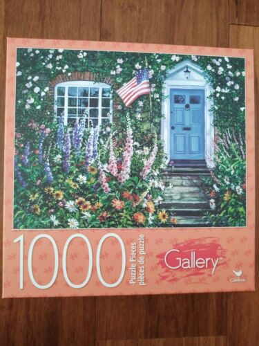New Sealed Jigsaw Puzzle  1000 Pieces Liberty Lane Flag Patriotic Garden flowers