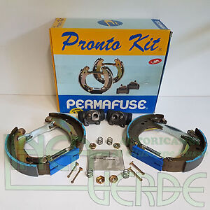 Set Brake Shoes Permafuse 907911P Sys. BRAKING Bendix For Peugeot 205 - 309