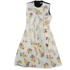 Celine-Phoebe-Philo-Floral-Flare-Dress-White-Yellow-Black-US-4-36