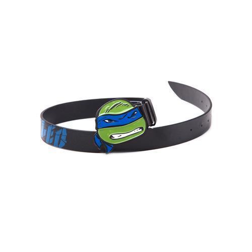 BTY290810TNT-85 TARTARUGHE NINJA Cintura nera con fibbia LEO BLU 2D