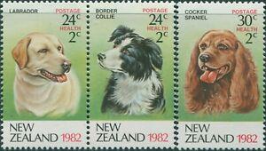New-Zealand-1982-SG1270-1272-Health-Dogs-set-MNH