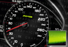 x8 Mercedes AMG Logo Glow in the Dark Interior Speedo Decals Luminescent Vinyl