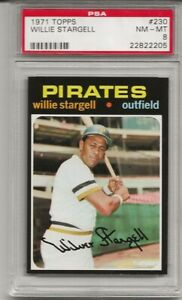 SET-BREAK-1971-TOPPS-230-WILLIE-STARGELL-PSA-8-NM-MT-HOF-PITTSBURGH-PIRATES