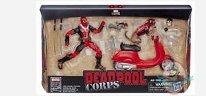 "Deadpool Marvel Legends Red Pool Action Figure Head Cast 6/"""