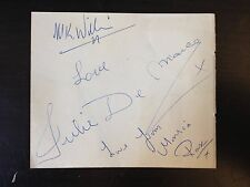 MONICA ROSE / JULIE DEMARCO - DOUBLE YOUR MONEY TV HOSTS - SIGNED VINTAGE PAGE