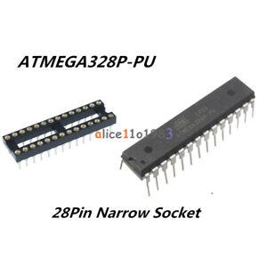 IC-ATMEGA328P-PU-ATMEGA328P-DIP28-Microcontroller-ATMEL-amp-28Pin-Narrow-SOCKET