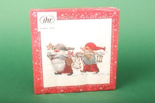 """Weihnachten Advent IHR Servietten /""""Niels and Inger/"""" Lunch Serviette 33x33 20 St"""