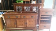 Solid Wood China Hutch/w Lights and matching wine cabinet