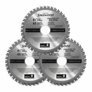 Kinswood-3PCS-Circular-Saw-Blade-Universal-Fit-4-034-1-2-034-40T-Metal-Aluminum-Steel