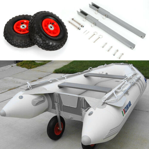 for Inflatable and Aluminum Boats Boat Dolly Transom Launching Wheels