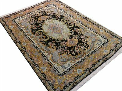 Persischer Täbiiz 148 x 212 cm handgeknüpft, mit Seide auf Seide, sehr fein, NEU