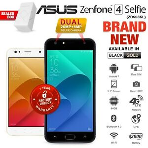 New-Factory-Unlocked-ASUS-Zenfone-4-Selfie-ZD553KL-Black-Gold-Android-Smartphone