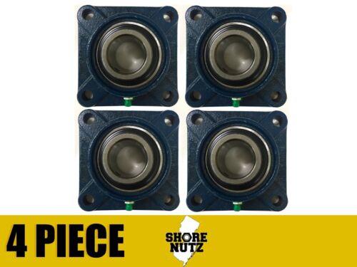 "4 Pieces 1/"" 4 Bolt Flange Bearing UCF205-16 UCF205"