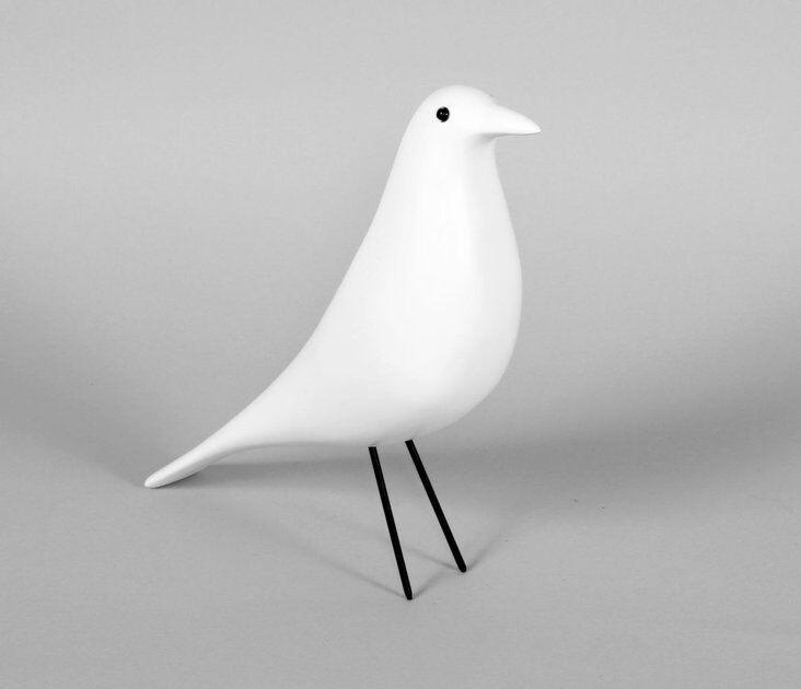 Mid century danish modern house bird ornament dove decoration nelson    Weiß