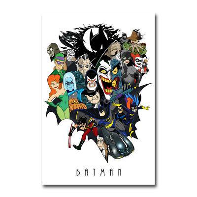 Joker Batman The Animated Series DC Superhero Art Silk Poster 13x20 24x36 inch