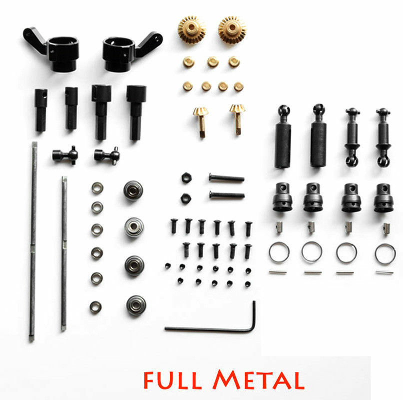For 1 16 WPL B14 B24 B26 C14 C24 C24 C24 RC Car Original Metal OP Full Fitting Metal Set f6167e