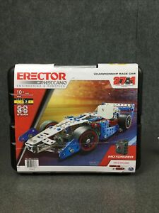NEW Meccano Race Car Set Building Kit Championship 27-in-1 Erector Real Tools