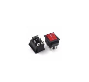 KCD4-Interrupteur-a-Bascule-Rouge-Dpdt-sur-Arret-6-Broche-16A-250VAC-20A