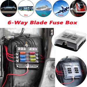 universal automotive fuse box universal cars automotive boat bus 6 way blade fuse box holder  boat bus 6 way blade fuse box holder