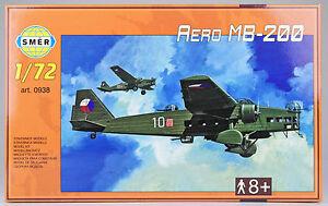 SMER-Aero-MB-200-tschechischer-Bomber-Flugzeug-Bausatz-1-72-0938