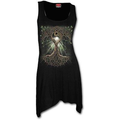Spiral OAK QUEEN Goth Bottom Camisole Dress, Hippie, Celtic, Pagan, Hippy, Wicca