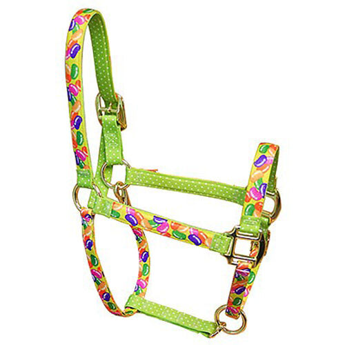Jelly Beans w Green Polka Dots Accent Fashion Horse Halter