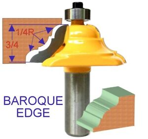 """1 pc 12"""" SH French Baroque Handrail Edge Forming Router Bit S"""