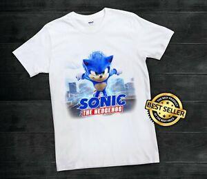 Sonic The Hedgehog Movie 2020 Unisex T Shirt Rare Logo Design Limited Edition 2 Ebay