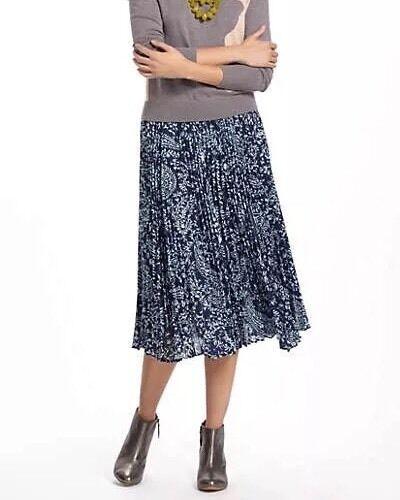 ANTHROPOLOGIE Skirt Size  0 NEW Pleated Midi Юбка Плиссировка
