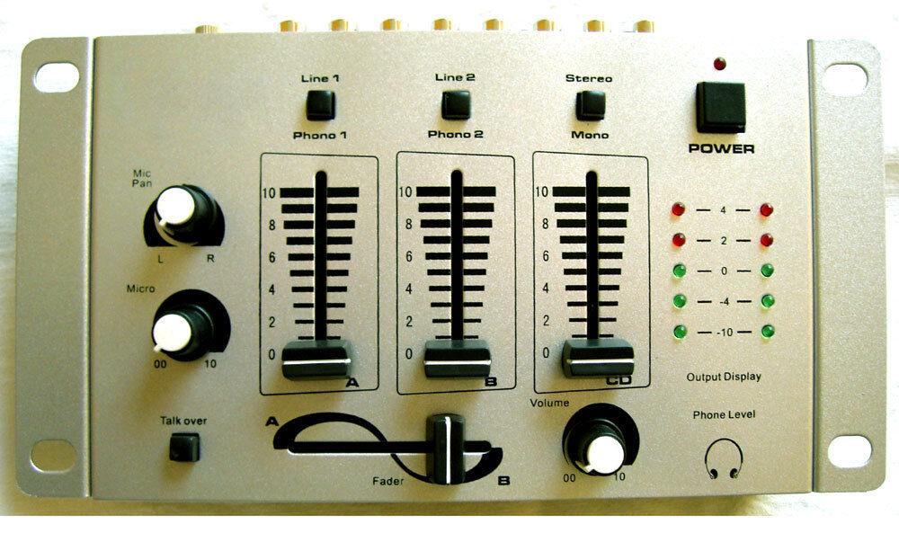 DJ-Mixeur table de mixage pour karaoké disco fête phono Ordinateur portable lecteur CD Micro -