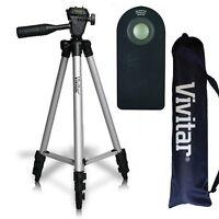 50 Vivitar Tripod + Remote For Canon Eos Xti 1200d T3 T3i T4 T5 T6 7d 6d 20d