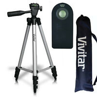 50 Pro Vivitar Tripod + Remote Control For Canon Eos Rebel Dslr Cameras