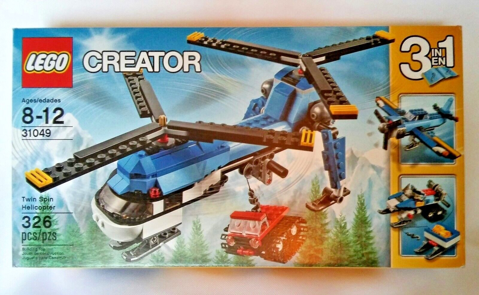 LEGO Creator Twin Spin Helicopter Building Set 31049 ORIGINAL Kit (326 Piece)