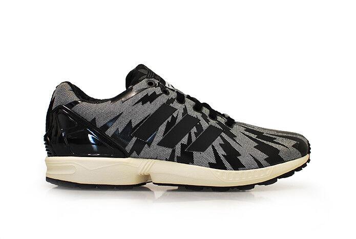 Hombre Adidas ZX FLUX - s78369 - blancoo y Negro Zapatillas