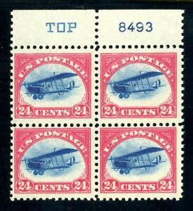 USAstamps-Unused-VF-US-Airmail-Jenny-Double-Plate-Block-Sctt-C3-OG-MNH