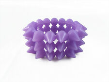 PURPLE CYBER SPIKE BRACELET SPIKED STUDDED ROCK GOTH PUNK EMO CANDY RAVE