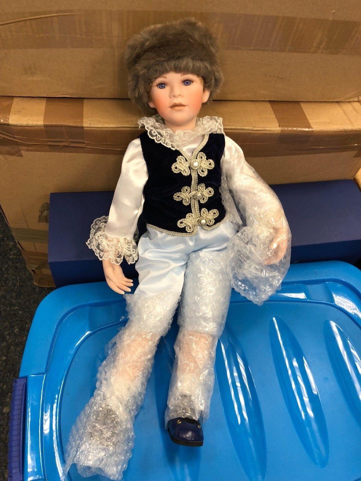 Il Kase Lepp ⭐ ⭐ bambola di porcellana 55 cm. ⭐ ⭐ ottimo stato