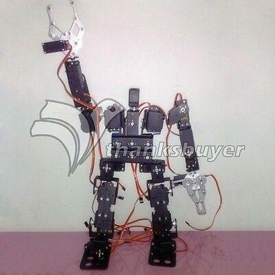 19DOF Biped Robot Kit Bracket Ball Bearing Robotics with Clamp+ 19pcs Metal Horn
