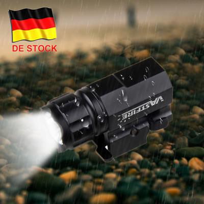 2000LM R5 LED Taktische Taschenlampe Jagd Licht 20mm Weaver Picatinny Montieren