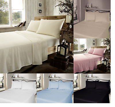 Ivory Solid Bed Sheet Set All Extra Deep Pkt /& Sizes 1000 TC Pure Egypt Cotton