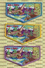 BSA OA LODGE 363 MA I SHU 2001 NATIONAL JAMBOREE SET OF 3 FLAPS