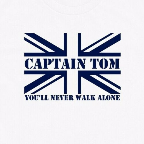 CAPTAIN TOM YOU/'LL NEVER WALK ALONE Union Jack T-Shirt