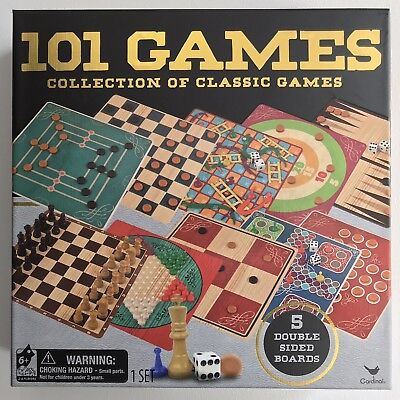 Cardinal 101 Games Collection Of Classic Board Games | eBay